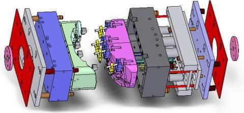Spritzgusswerkzeug für Kunststoffteile CAD